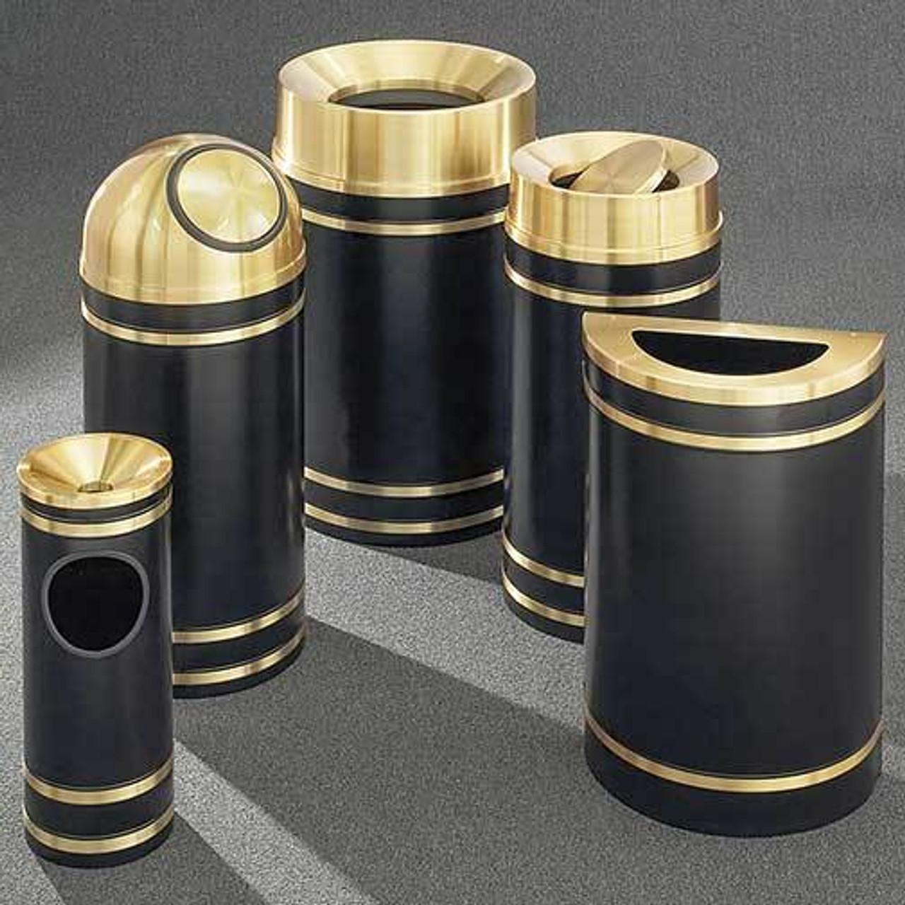 Glaro Monte Carlo Trash Cans - Satin Brass