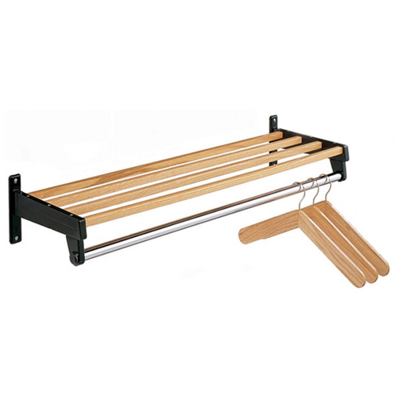 Wall Coat Racks - With Shelf - Wood