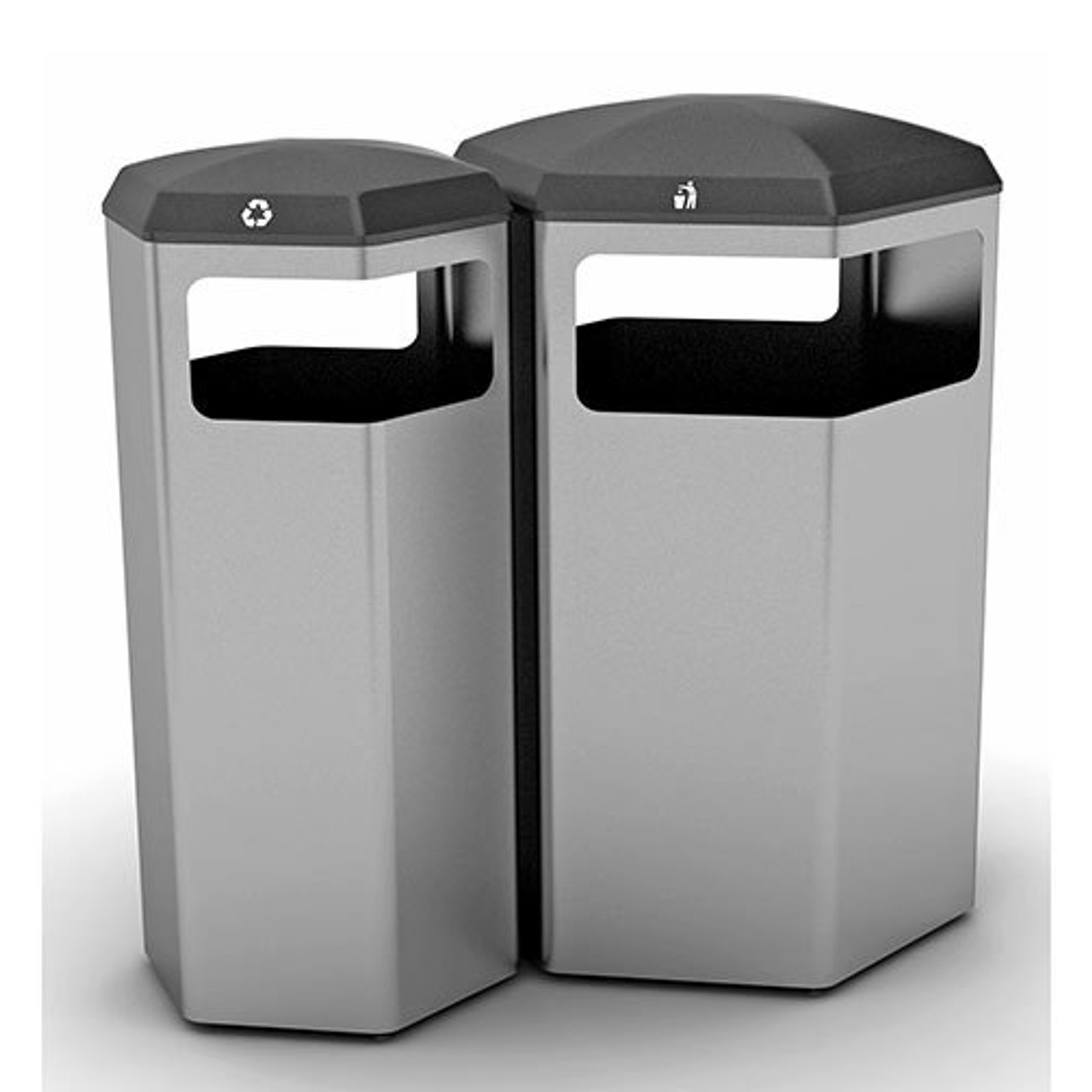 Peter Pepper HexBin Trash Cans