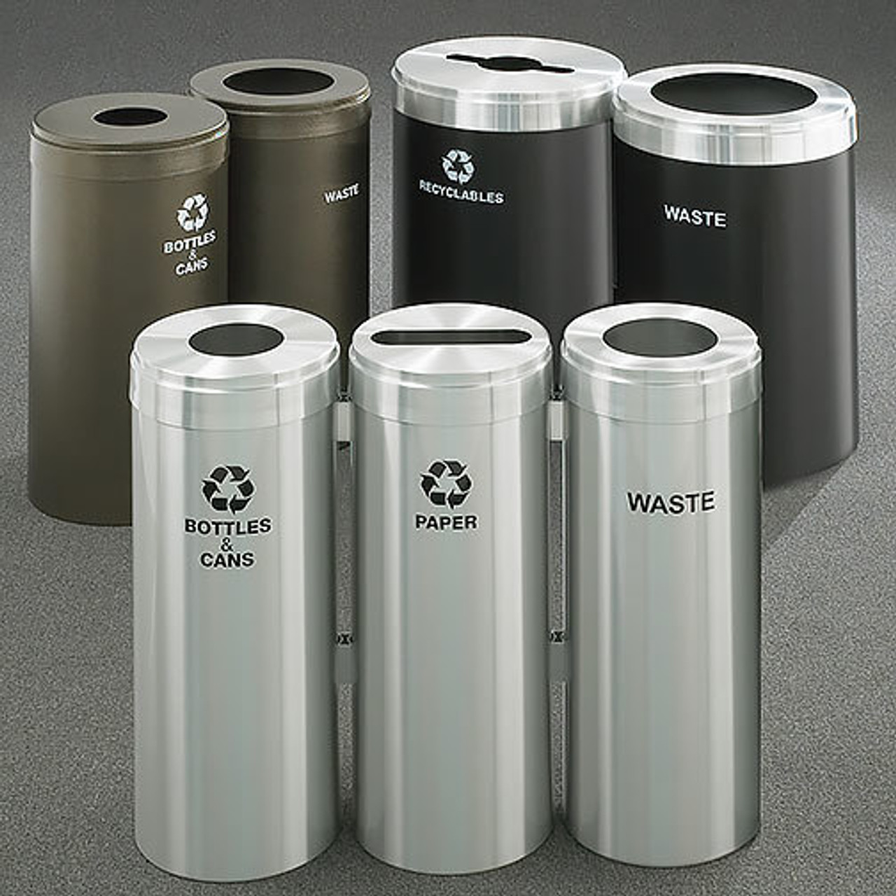 Glaro RecyclePro Value Connected Bins