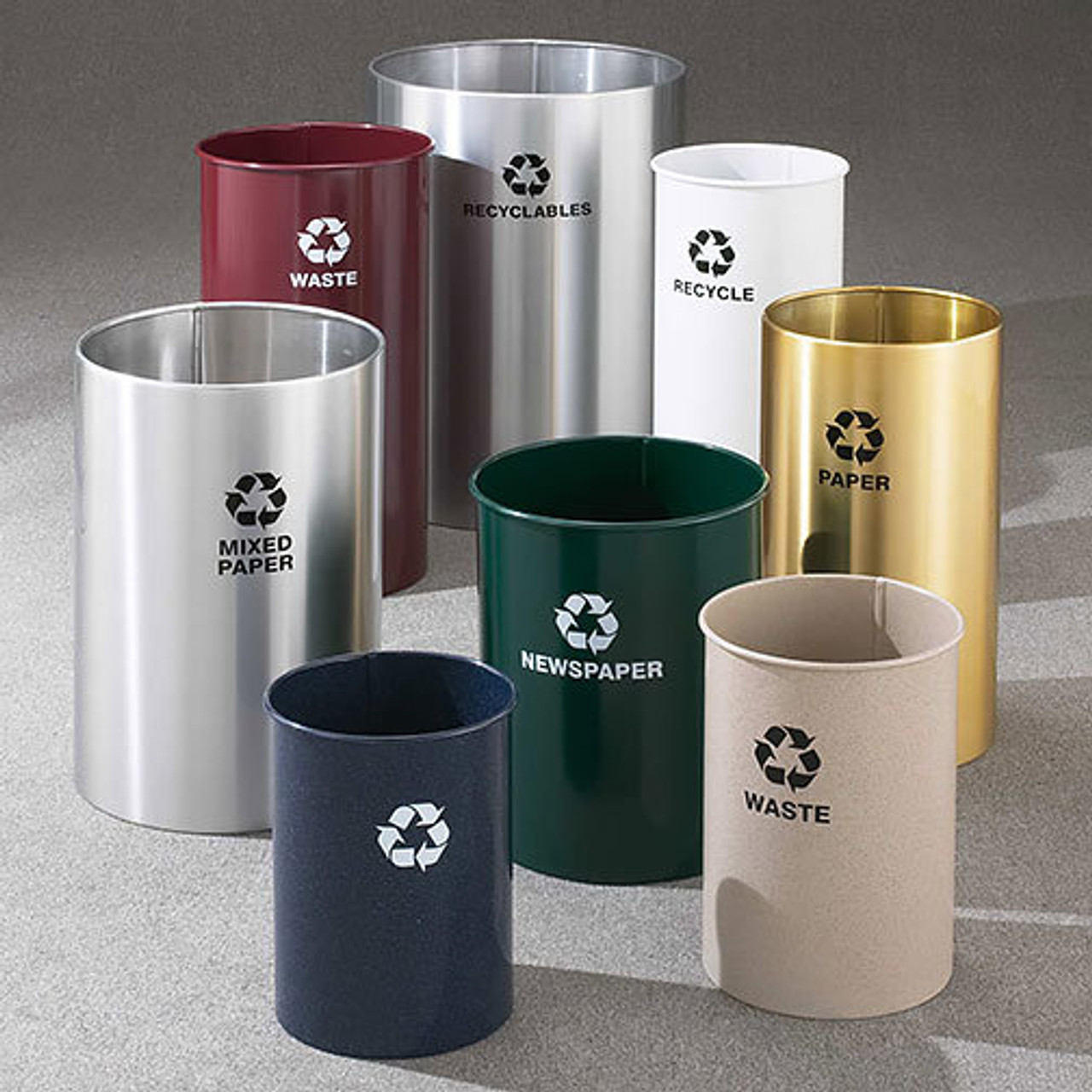 Glaro RecyclePro Open Top Recycling Bins