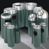 Glaro Mount Everest Trash Cans - Aluminum Top
