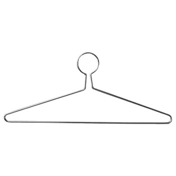 Camden-Boone Chrome Steel Extra Heavy Duty Coat Hanger with Anti-Theft Closed Loop - 117-003
