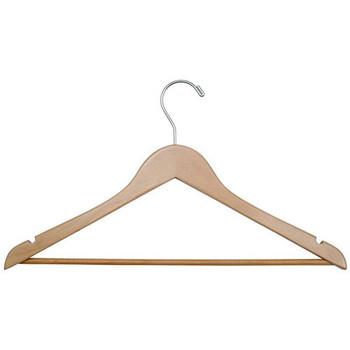 Camden-Boone Open Hook Wood Coat Hanger with Trouser Bar - 115-002