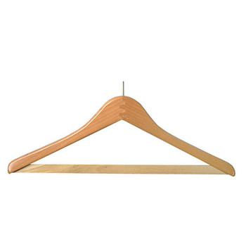 Camden-Boone Wood Coat Hanger with Anti-Theft Ball-Top and Trouser Bar - 115-001