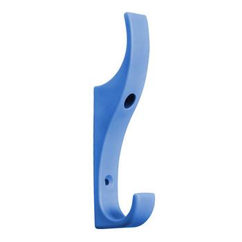 Camden-Boone Unbreakable Light Blue Nylon Coat Hook - Double Prong - 122-006