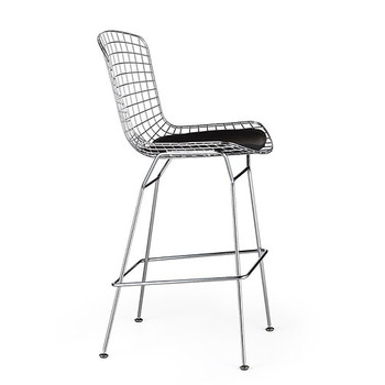 Woodstock High Bar Stool - BS-8320 - The Who - With Black Cushion - Side View