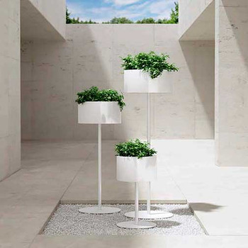 Magnuson Green Cloud Standing Planters - Courtyard