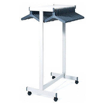 Magnuson Rap Rak Coat Rack RR-4F - Image is of Heavy Duty Version with Spacer Bar and Casters
