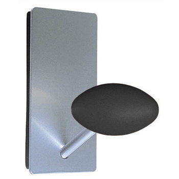 Magnuson Coat Hook MEM - Silver Back Plate - Black Knob