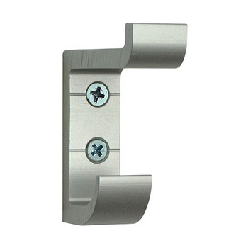 Camden-Boone Extra Heavy Duty Double Prong Aluminum Coat Hook in Silver - 121-004