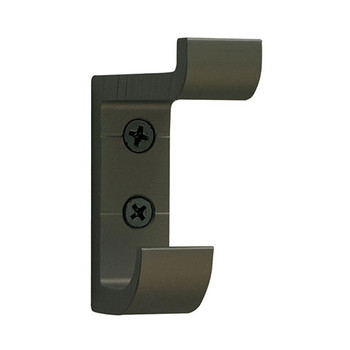 Camden-Boone Extra Heavy Duty Double Prong Aluminum Coat Hook in Antique Brass - 121-005