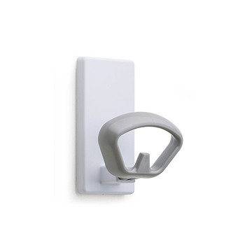 Magnuson Magnetic Coat Hook KOBE-MA with White Back Plate and Silver Hook