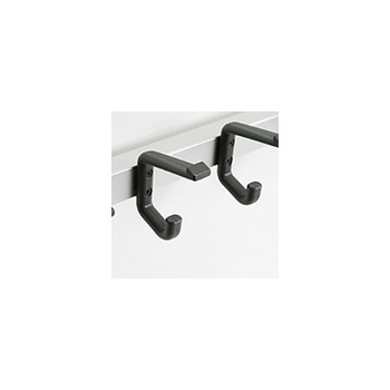 Magnuson Nylon Coat Hook K-15 on Rail - Double Prong (Note: Image shows 2 individual units.)