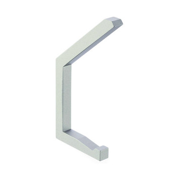 Magnuson K-320MS Double Prong Coat Hook in Metallic Silver