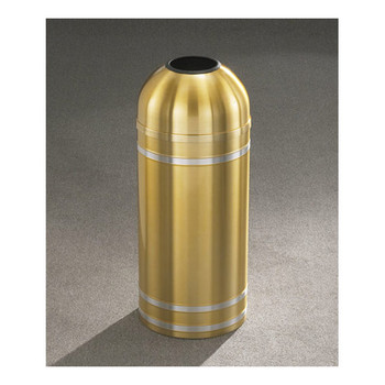 T1534 finished in Satin Brass with Satin Aluminum banding