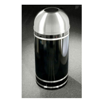 T1256 finished in Satin Black with Satin Aluminum finished banding and open dome top