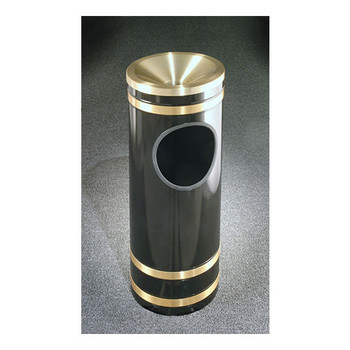 F1955 finished in Satin Black with Satin Brass banding and funnel top ash tray