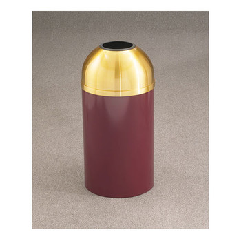 Glaro Mount Everest T1530-XX-BE in Burgundy finish with open dome top  Please note: this image is of a T1530-XX-BE not the T1230-XX-BE, but is representative of the overall design