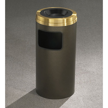 Glaro Mount Everest Brass Finish Sand Top Ash and Trash Receptacle - 15 x 31 - 10 Gallon - C1531-XX-BE - finished in Bronze Vein Please note: This is not an image of the C2031-XX-BE, but is representative of the overall design
