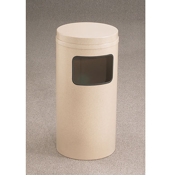 Glaro Mount Everest Flat Top Trash Can - 15 x 31 - 10 Gallon - C1566-XX-XX - finished in Desert Stone Please note: image shown represents the design of the unit and are not necessarily proportional to the C2066-XX-XX.