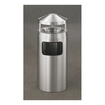 New Yorker Canopy Top Ash and Trash Receptacle, 15 x 39, 10 Gallon - H1503SA