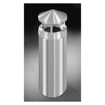 Glaro New Yorker Canopy Top Trash Can - 12 x 39 - 12 Gallon - H1201SA