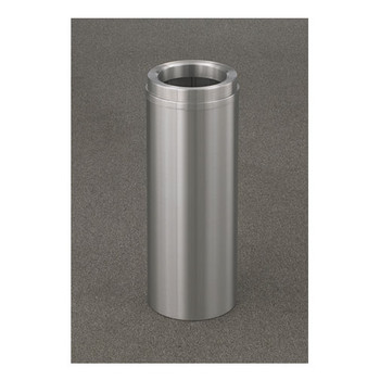 New Yorker Funnel Top Trash Can, 9 x 24, 6 Gallon Capacity. Finishes in Satin Aluminum