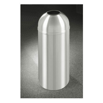 New Yorker Open Dome Top Trash Can finished in Satin Aluminum