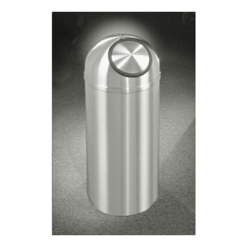 New Yorker Self-Closing Dome Top Trash Can, 12 x 30, 8 Gallon, S1230SA, finished in Satin Aluminum
