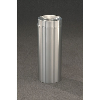 New Yorker Tip Action Top Trash Can, 12 x 32, 12 Gallon, TA1232SA, finished in Satin Aluminum