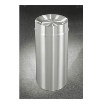 New Yorker Tip Action Top Trash Can - TA1533SA, finished in Satin Aluminum