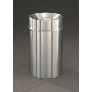 New Yorker Tip Action Top Trash Can, 20 x 35, 33 Gallon, TA2035SA finished in Satin Aluminum