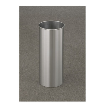 Glaro New Yorker Trash Can finished in Satin Aluminum