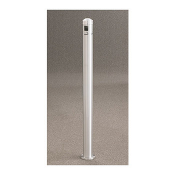 Glaro Surface-Mount Smoking Post 2406 finished in Satin Aluminum