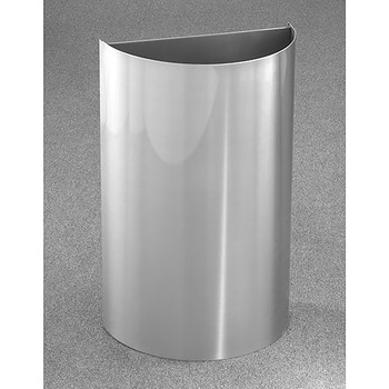 Glaro Profile Half Round Open Top Receptacle - 1896-SA, finished in Satin Aluminum