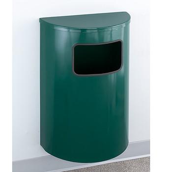 Glaro Profile Half Round Funnel Top Ash and Trash Receptacle - Satin Brass - 18 x 30 x 9 - 6 Gallon - 1894-BE