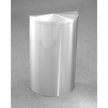 Glaro Profile Half Round Covered Receptacle - 1895-SA finished in Satin Aluminum