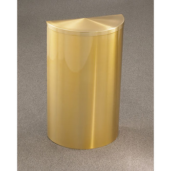 Glaro Profile Half Round Covered Receptacle - 1895-SA finished in Satin Brass