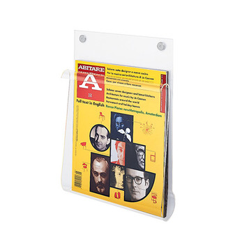 Peter Pepper Acrylic Magazine Rack 13139 - Wall Mount