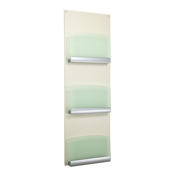 Peter Pepper 4103 3-Pocket Magazine Rack with Plexiglass Frosted Green Front Panel