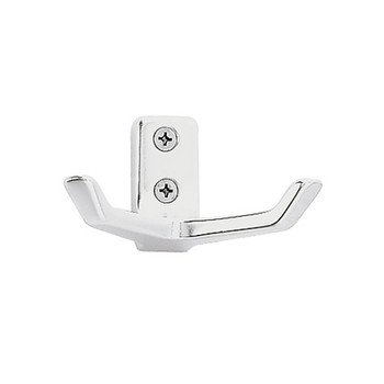 Peter Pepper 2077-AL Coat Hook - Aluminum - Double Prong