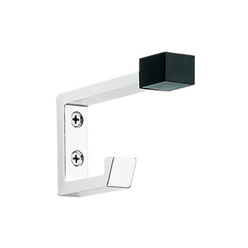 Peter Pepper 2083-AL Coat Hook - Aluminum - Double Prong - Door Stop Tip
