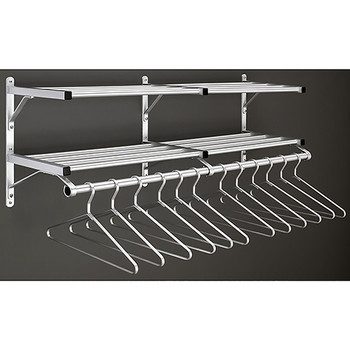 Glaro Wall-Mounted Coat Rack 502SA with Middle Bracket and Optional Hangers