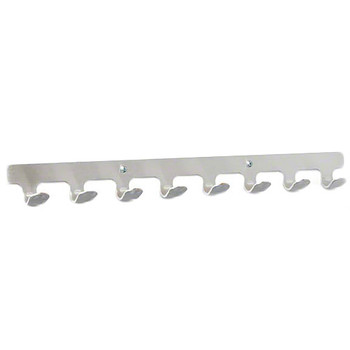 Coat Hook Strip used by Glaro 8000BSA Coat Racks - 4 Hooks Per Foot