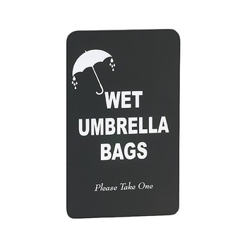 Optional Wet Umbrella Bags Sign S117BK