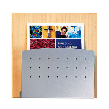 Peter Pepper 4001-QS Magazine Rack with Oak Back and Aluminum Metallic Front