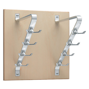 Peter Pepper 2196 Vertical Coat Rack - Wall Mount - 8 Hooks