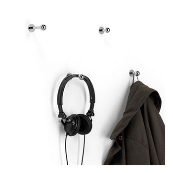 Magnuson Mirac Coat Hook - 1-3/8 Inch RIGHT: MIRAC-HK1 LEFT: MIRAC-HK2  Sorry, Headphones and Jacket are Not Included.