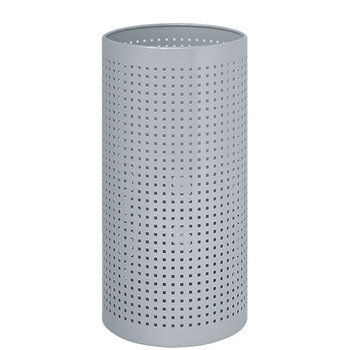 Peter Pepper 224 Umbrella Stand with Square Perforations, Finished in Aluminum Metallic